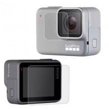 Стекло защитное SHOOT на экран и объектив GoPro Hero 7 Silver/White