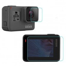 Стекло защитное SHOOT на экран и объектив GoPro Hero 5, 6, 7 Black, 2018