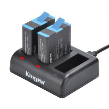 """Аккумуляторы и зарядное устройство для GoPro Hero 9, 10 Black """"Kingma"""""""
