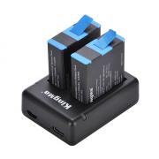 Комплект Kingma для GoPro Hero 9 Black (2 аккумулятора и тройное зарядное)