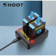 Комплект SHOOT для GoPro Hero 9, 10 Black (аккумуляторы и зарядное)