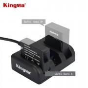 Зарядное устройство Kingma тройное для GoPro Hero 4, 3+, 3