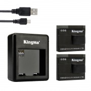 Комплект Kingma для Xiaomi Yi Sport - 2 аккумулятора и зарядное