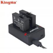 Комплект Kingma для Xiaomi Mijia 4K (Mi Action camera), два аккумулятора и зарядное