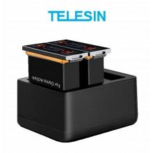 Комплект Telesin для DJI Osmo Action (2 аккумулятора и тройное зарядное)