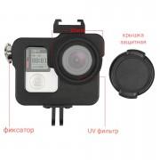 Алюминиевый Бокс с UV фильтром для GoPro Hero 3, 3+, 4