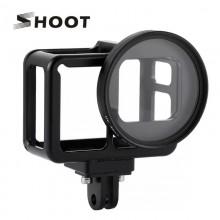 Алюминиевая Рамка SHOOT с UV фильтром для GoPro Hero 5, 6, 7, Hero 2018