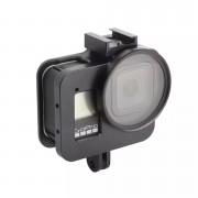 Чехол алюминиевый с UV фильтром для GoPro Hero 8 Black