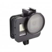 Чехол алюминиевый Kingma с UV фильтром для GoPro Hero 8 Black