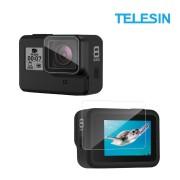 Стекло защитное Telesin на экран и объектив GoPro Hero 8 Black