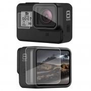 Стекло защитное на экраны и объектив GoPro Hero 8 Black
