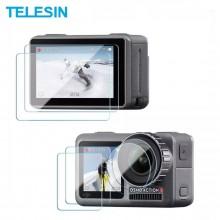 Защитное стекло (6 шт) Telesin на экраны и объектив DJI Osmo Action