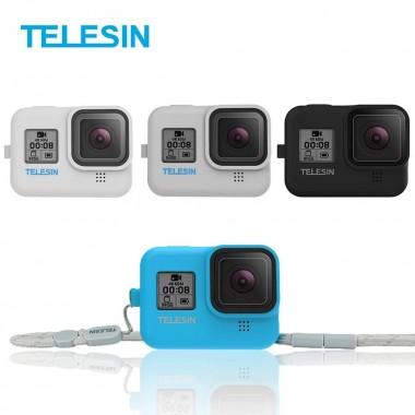 Чехол силиконовый Telesin с ремешком для GoPro Hero 8 Black
