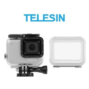 Аквабокс Telesin для GoPro Hero 7 Silver, White с двумя крышками