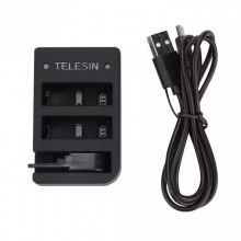 Зарядное устройство Telesin для GoPro Hero 4, 5, 6, 7, 8, 2018, пульта Wi-Fi