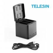 Зарядное устройство Telesin тройное для GoPro Hero 8, 7, 6, 5, 2018