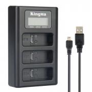 Зарядное устройство Kingma тройное для GoPro Hero 8, 7, 6, 5